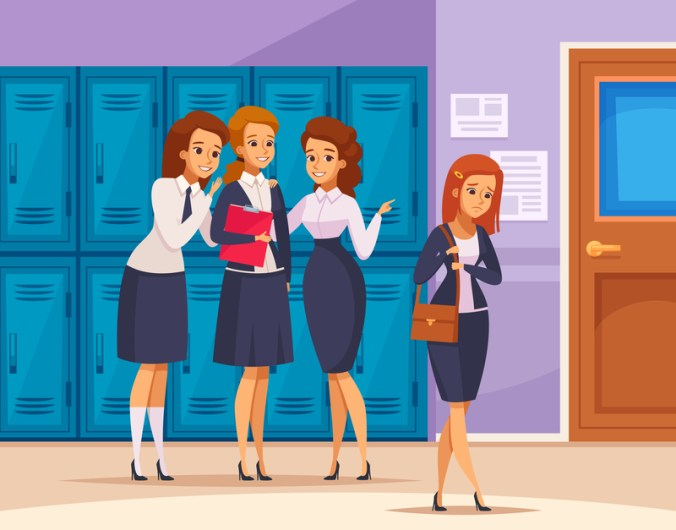 School Girls Bullying Composition
