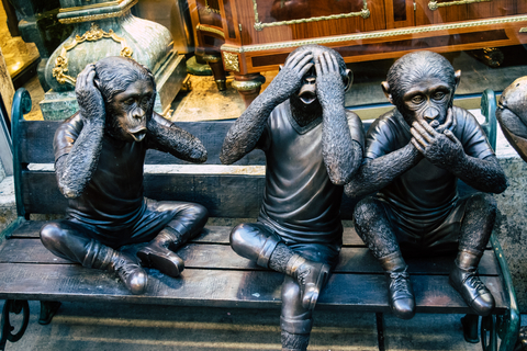 Hear no evil, speak no evil, see no evil , 3 wise monkeys statues.