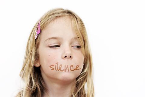 bullied victim gagged silence shut up