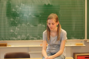 bullied girl sad