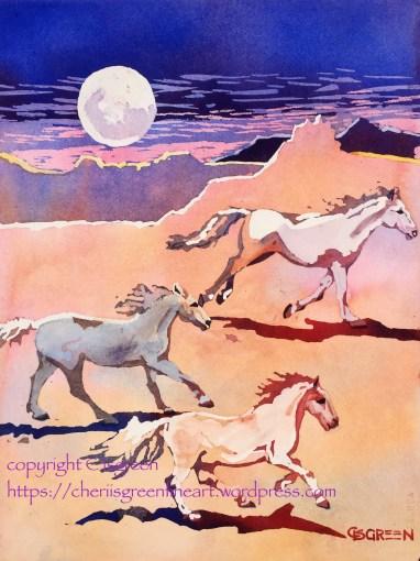 """Frolic in the Moonlight"" copyright C Isgreen 2015"