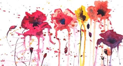 """Rainy Day Poppies"""
