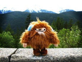 My beloved Quatchi on the Sea-to-Sky Highway. (Please don't steal this photo. If you'd like to use it online, just ask.)