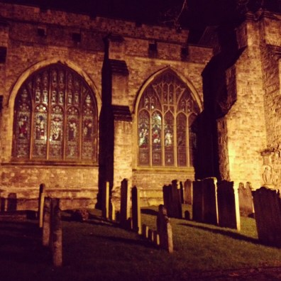 Church and cemetery in Maidstone, Kent.