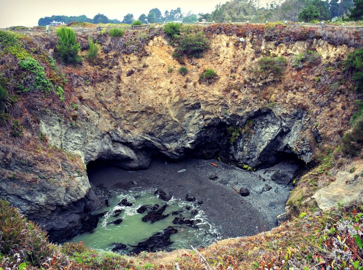 The Devil's Punch Bowl (a collapsed sea cave) at Russian Gulch State Park.