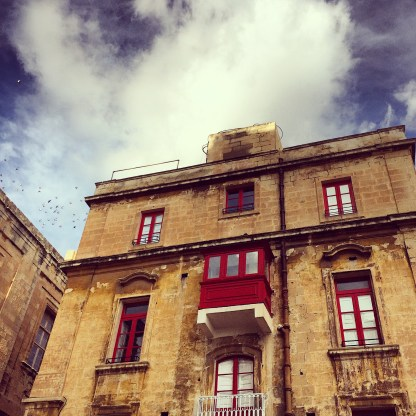 red facade