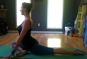 Eka Pada Rajakapotanasana: One-legged king pigeon pose.