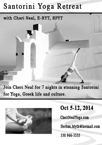 Greece yoga retreat in Santorini