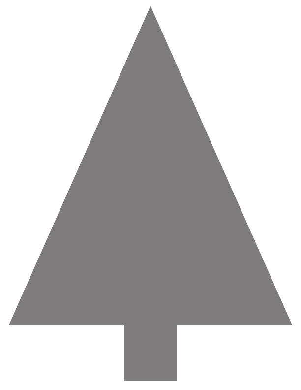 Christmas Tree Clipart Silhouette