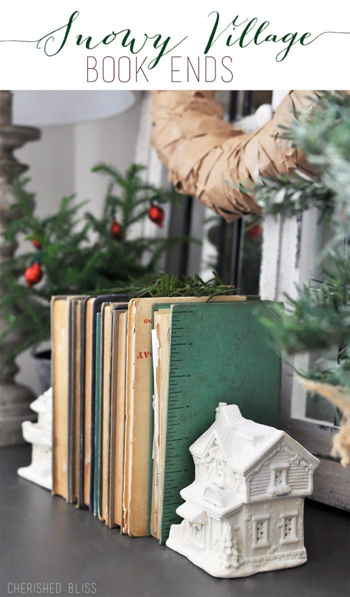 Snowy Village Book Ends Tutorial