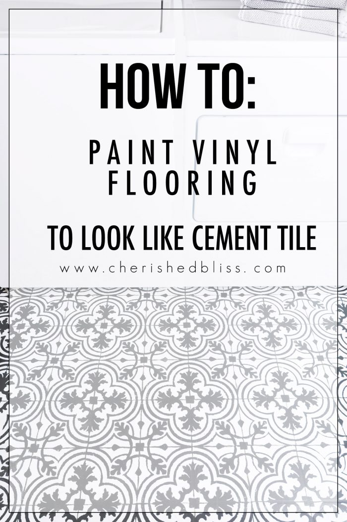 how to paint vinyl floors cement tile