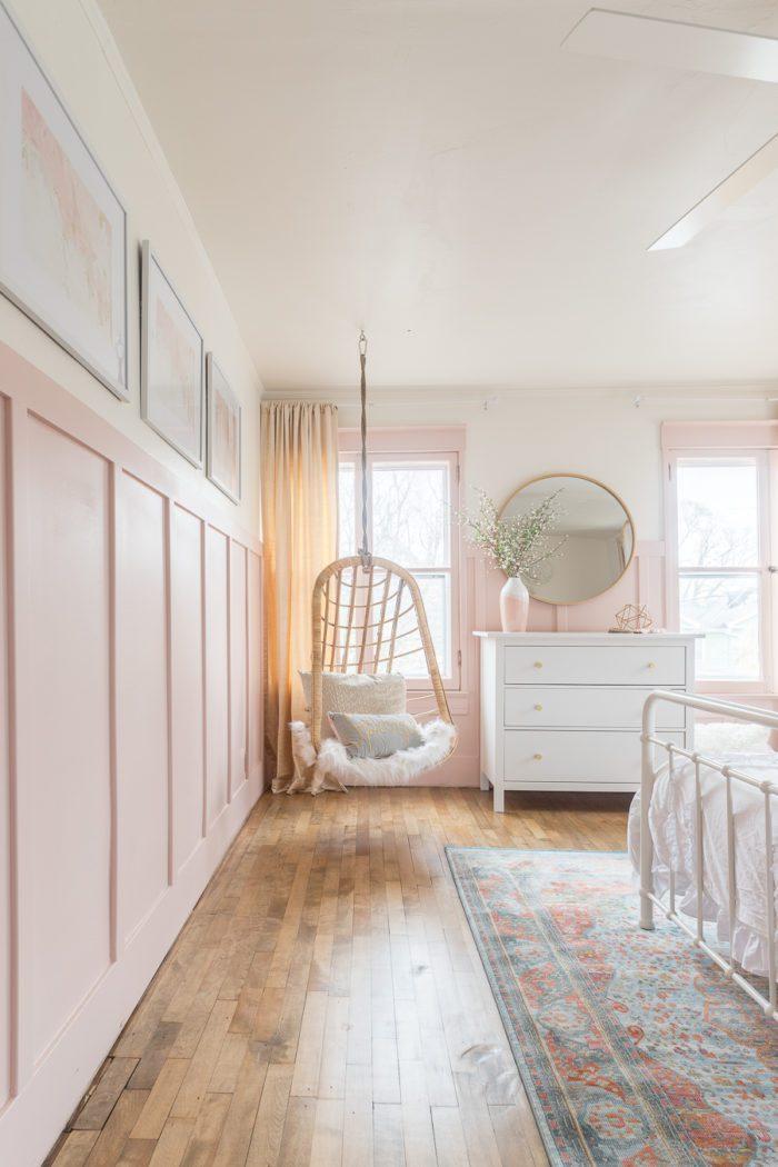 pink gold girls bedroom decor ideas