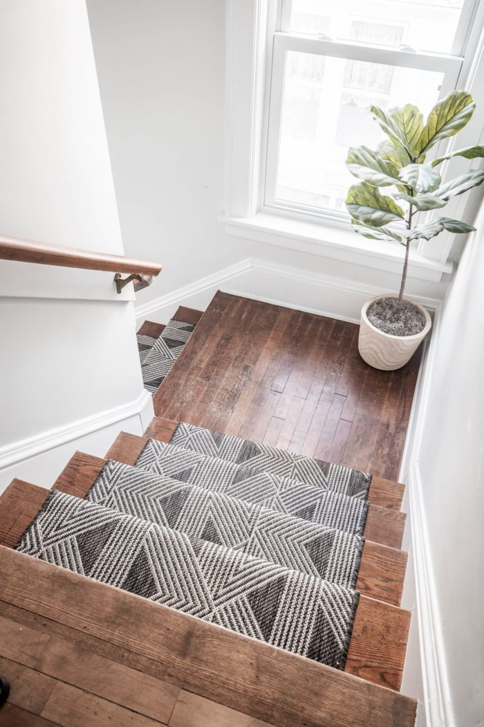 How To Install A Stair Runner Diy Cherished Bliss   Runners On Stairs With Landings   Roger Oates   French Tuck   Annie Selke   Before And After   Runners Up