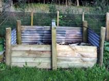 Larger 2-bay compost bin