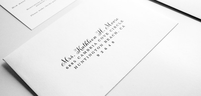 Romantic Calligraphy Wedding Invitations By Shine