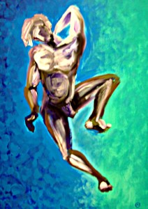 מודל עירום גבר