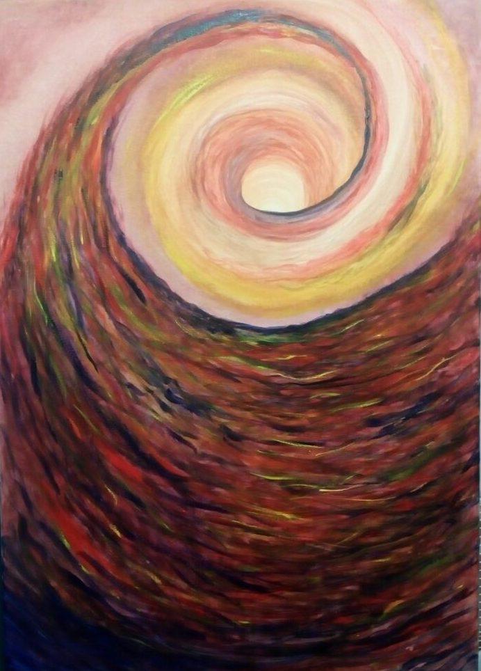 "Sophy Cherkov, ""Hope in uncertainty"", Gouache on Canvas"
