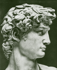 Sculpture of the human head