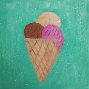 """Rona, """"Ice cream"""", Oil on Canvas"""