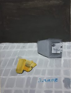 """Itamar, """"Safe box and gold"""", Oil on Canvas"""