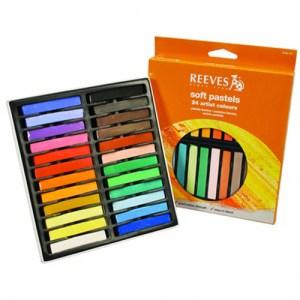 A set of soft pastel colors