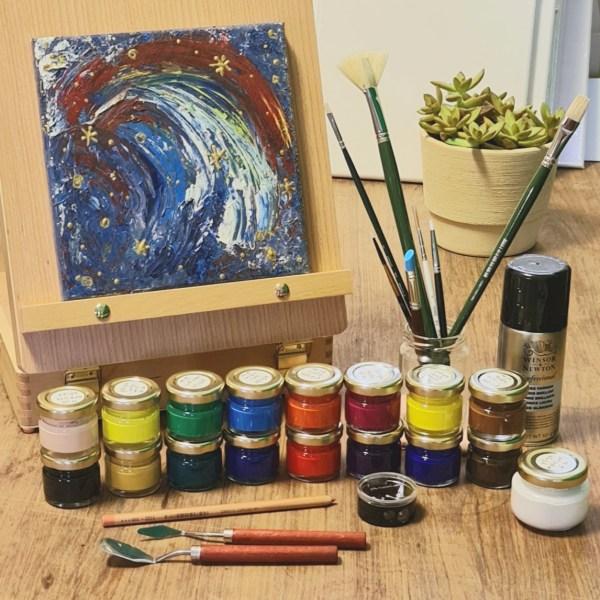 קיט ציור פרימיום בצבעי אקריליק