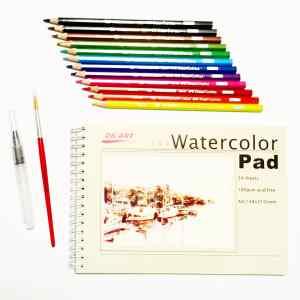 Набор водяных карандашей и блокнот для рисования