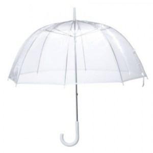 Transparent umbrella for design