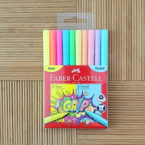 A set of high-quality neon pastel markers for painting Faber Castell
