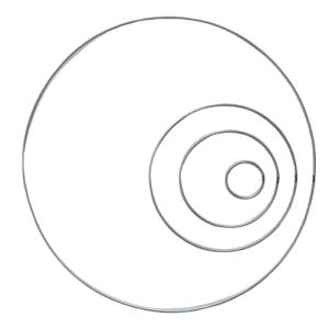 Metal hoop for creation