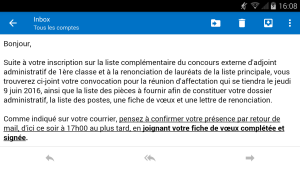 mail concours