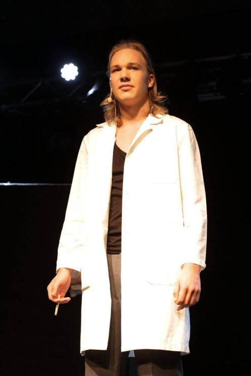 Pepe Hakala as Pustot at Teateris event 3.4.2016, Turku. Photo: Riina Tiikasalo