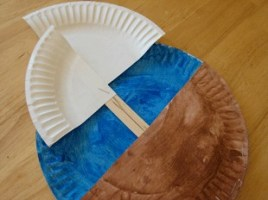 Mayflower Paper Plate Boat