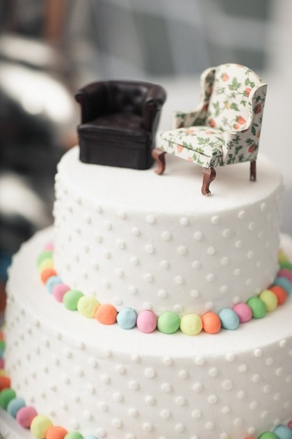 20 adorable unique wedding cake toppers wedding blog sofa cake topper junglespirit Image collections