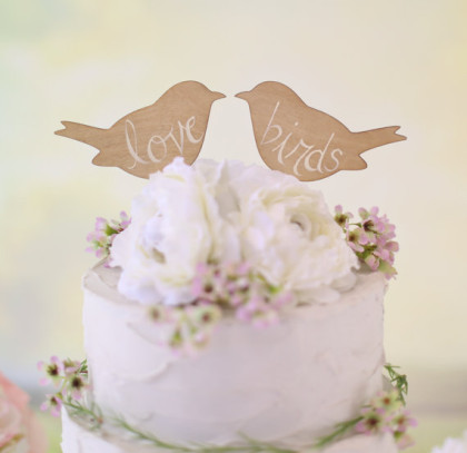bird cutout topper