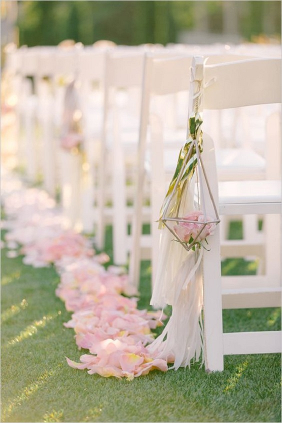 Geometric Aisle Decor