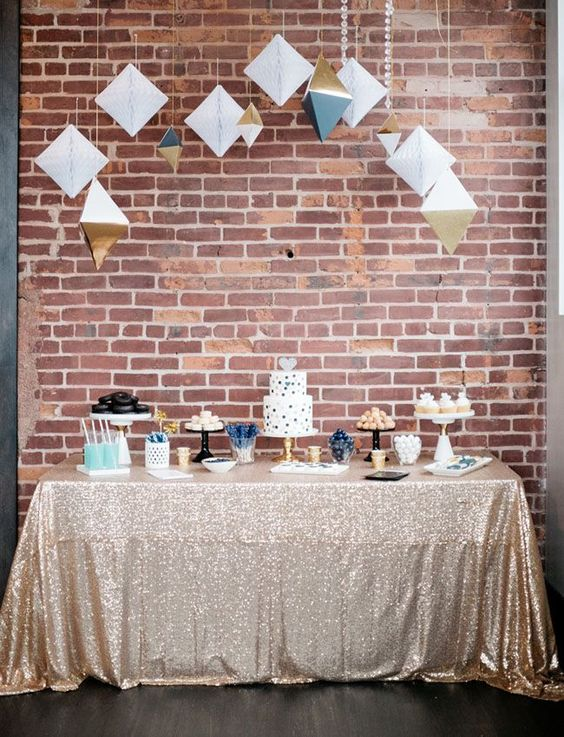 Geometric Candy Buffet