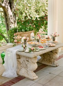 elegant garden dessert table