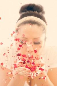 Poppy Red confetti