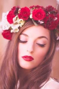Poppy Red flower crown