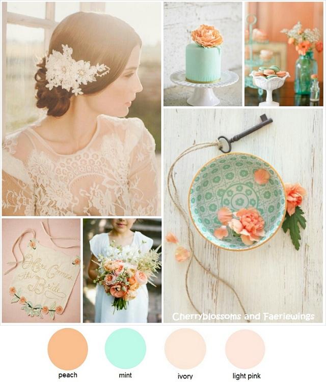 Color Series #9 - Peach + Mint