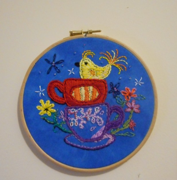 Tea cups and Bird