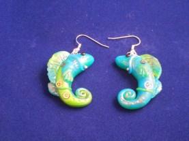 steampunk fish earrings