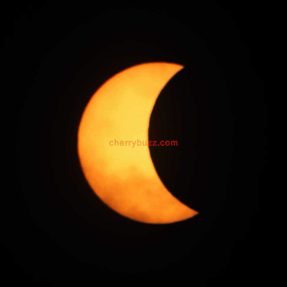 August 21st Early Stage of Solar Eclipse