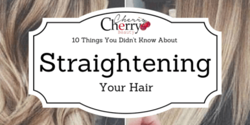 Straightening your hair