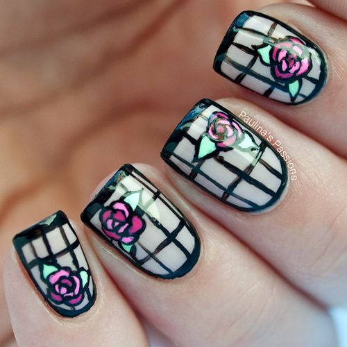 Beauty and the Beast Nails 7