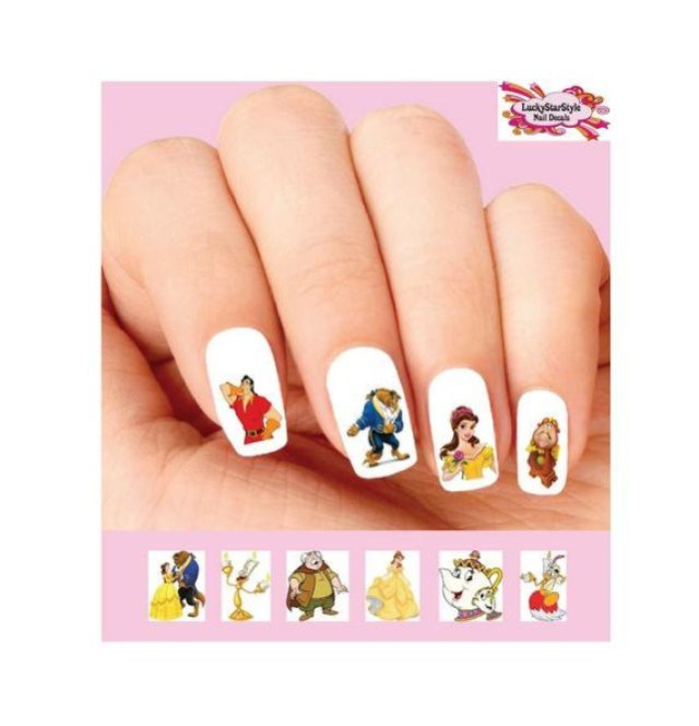 Beauty and the Beast Nails 8