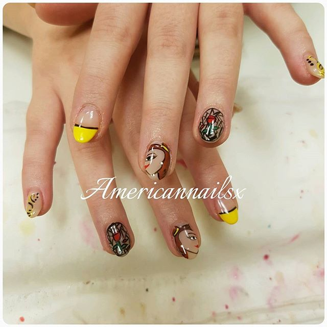Beauty and the Beast Nails @