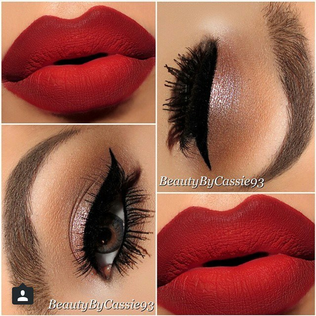 21 Looks Eye Makeup For Red Lips Cherrycherrybeauty