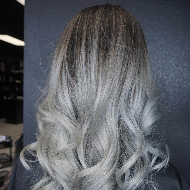 Ombre Grey Hair Ideas 21
